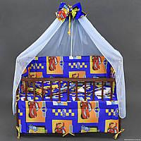 """Комплект  постельного белья для новорожденного """"Гонки  """""""