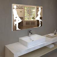 Зеркало с декором цветов 60х80 см + LED + сенсор, фото 1