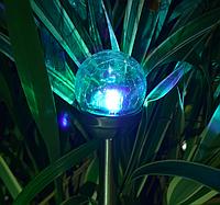 Газонный светильник на солнечной батарее, 8шт/упак, шар RGB(смена цвета), фото 1