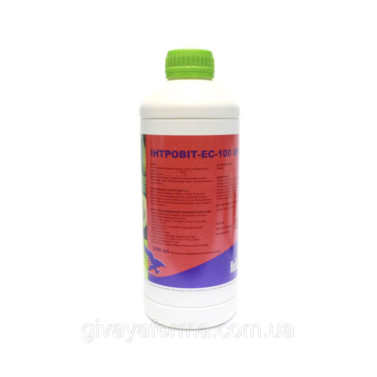 Интровит ES-100 Орал 1 л, витамин Е + Селен, для животных и птиц, Интерхим