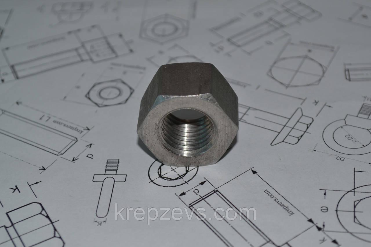 Гайка фланцевая М24 ГОСТ 9064-75 из нержавеющей стали