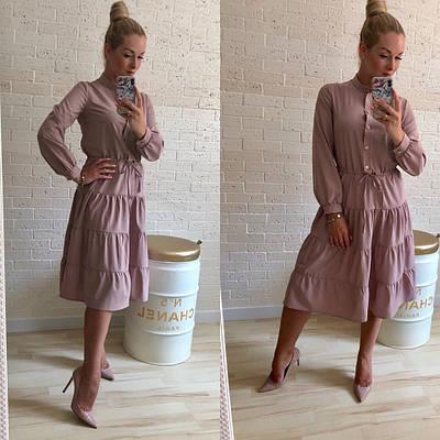 Стильное платье длинный рукав