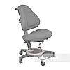 Подростковое ортопедическое компьютерное кресло от 7 до 18+ лет ТМ FunDesk Bravo Grey серый