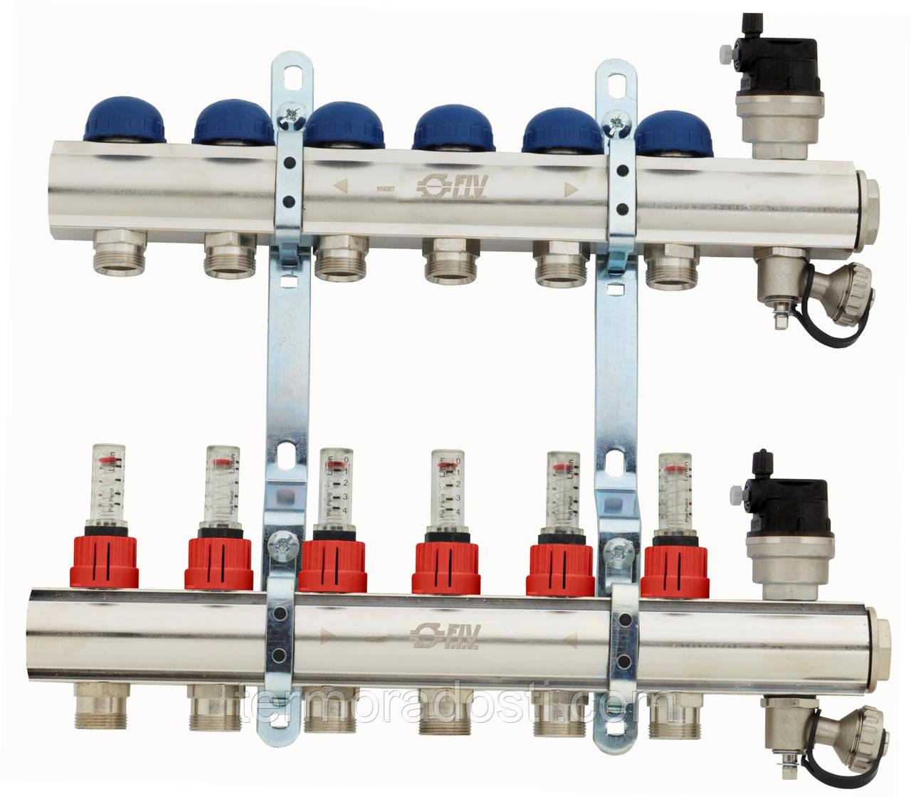 Коллектор для отопления FIV на 7 отводов