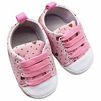 Пинетки, кеды, кроссовки детские, для новорожденной девочки от 0 до 18 месяцев, фото 1