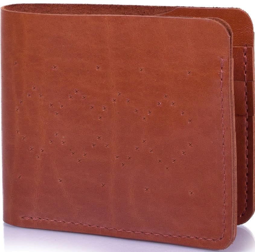 Кошелек мужской кожаный SVETLANA ZUBKO,  SVZV0209, коричневый