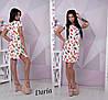 Летнее принтованное платье из штапеля 55031715