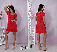 Кружевное платье с коротким рукавом и спущенным плечом 55031716, фото 1