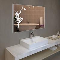 Зеркало с узором  600х800 + рамка + Led + сенсор, фото 1
