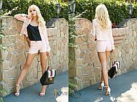 Джинсовый женский костюм шорты и жакет 3110683, фото 1