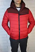Весенняя мужская красная куртка