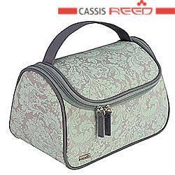 Reed - Косметичка 8089 Oriental мятно серая узор чемодан ручка , фото 2