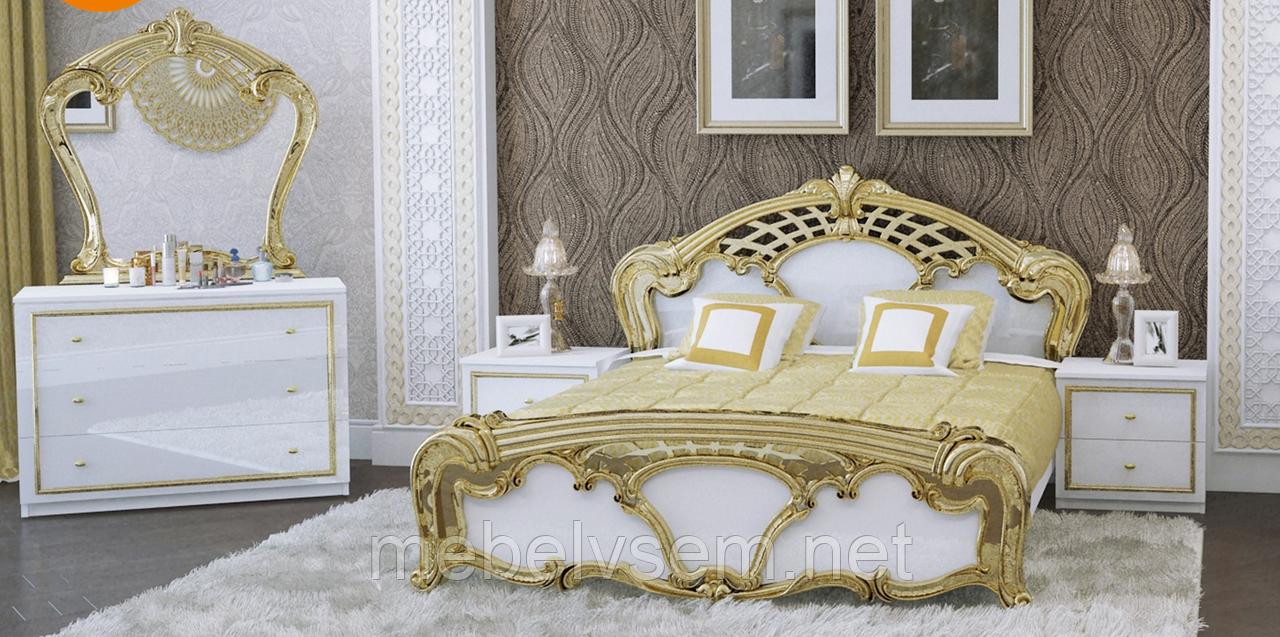 Спальня Єва Eva глянець білий золото