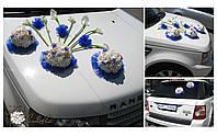 Оформление свадебного авто живыми цветами