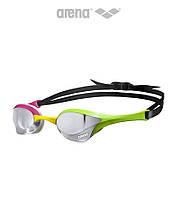 Зеркальные очки для плавания Arena Cobra Ultra Mirror (Silver/Green/Pink), фото 1