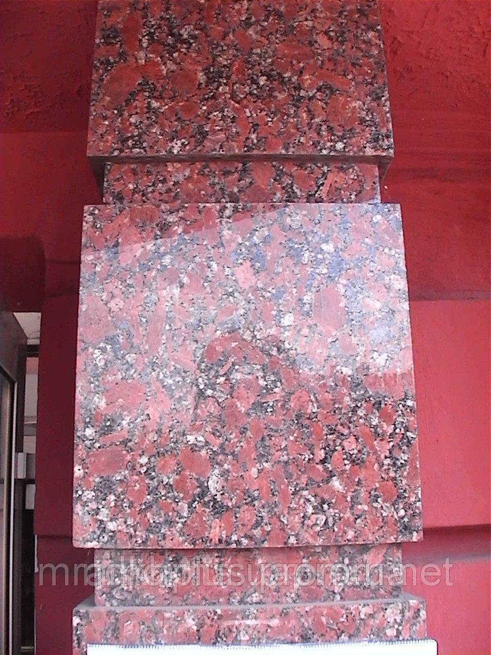 Гранитная полированная плитка Капустинского 40мм