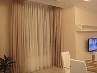 Пошив штор, гардин в гостиной комнате.