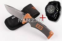 Нож GERBER Bear Grylls с чехлом + часы Swiss Army