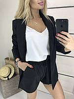 Женский летний костюм тройка с шортами, черный !, фото 1