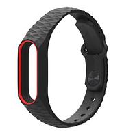 Ремешок для Xiaomi Mi Band 2 MiJobs черный с красным браслет