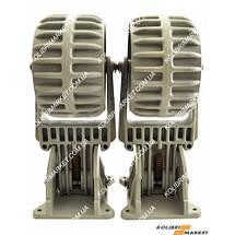 Транцевые колеса пластиковые КОЛИБРИ серые, фото 3