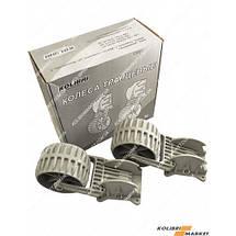 Транцевые колеса пластиковые КОЛИБРИ серые, фото 2