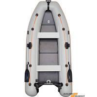 Моторная надувная лодка четырехместная килевая Kolibri КМ-330DL+Бесплатная доставка