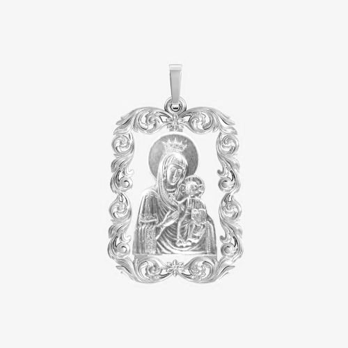 Ладанка серебряная Богородица ЛП-54