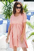 Хлопковое платье oversize. Цвет персиково-розовый