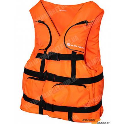 Страховочный жилет KOLIBRI 70-90 кг оранжевый, фото 2