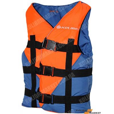 Страховочный жилет KOLIBRI 110-130 кг оранжево-синий