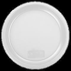 Тарелка пластиковая 20см 100шт Белая