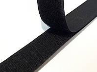 Липучка для одежды и обуви в бобине 5см цвет Черный