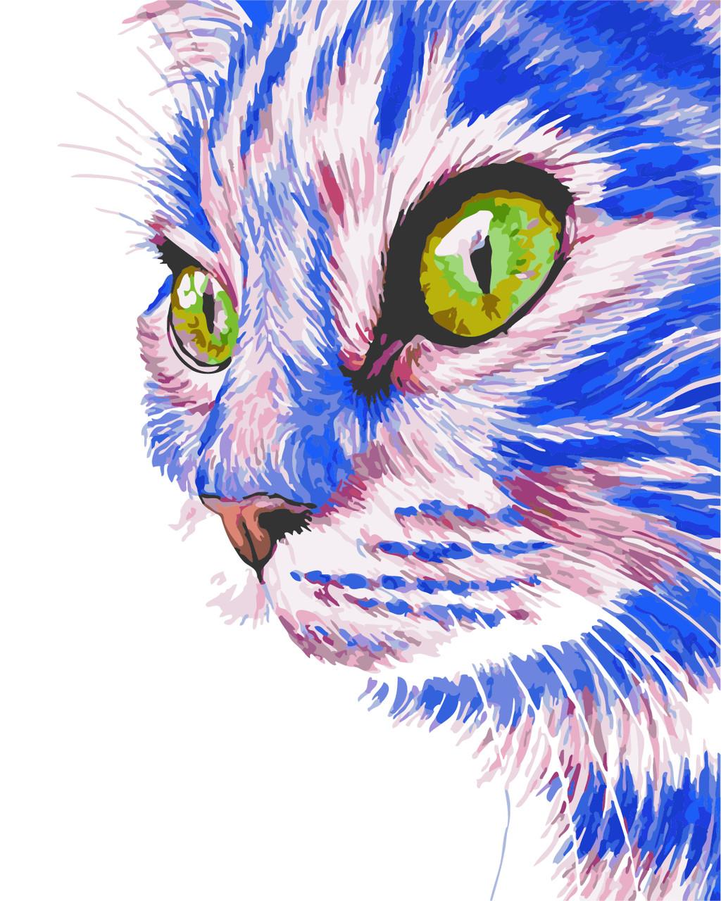 """Картина по номерам """"Зеленоглазый кот"""" 40*50см: продажа ..."""