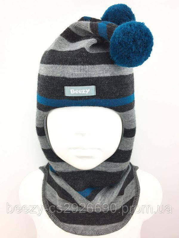 Шапка шлем зимняя Дракон для мальчика Beezy 1510 54 Р1  47-49 см ... 5d2ec719a172a