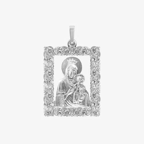 Ладанка серебряная Богородица ЛП-59