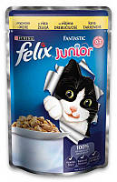 Felix Fantastic Junior консерва для котят с курицей в желе