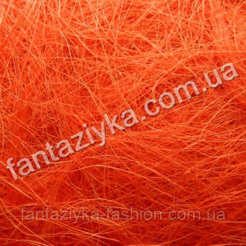 Натуральный сизаль 40г, ярко-оранжевый