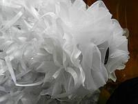 Белые банты на заколках крабах оптом  . 97