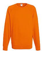 Мужской лёгкий реглан Fruit Of The Loom 62-138-0 Шелкография, XL, Без рисунков и надписей, Оранжевый