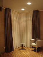 Пошив штор, гардин в спальне в Киеве.