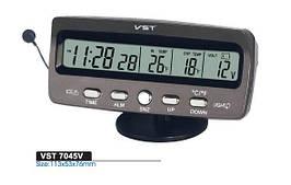 Часы VST 7045v в автомобиль с двумя датчиками температуры