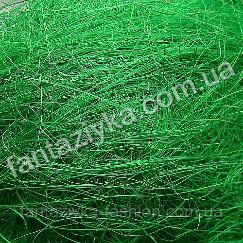 Натуральный сизаль 40г, зеленый