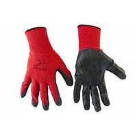 Перчатки черно-красные стрейчевые мужские, плотные (12 штук), фото 1