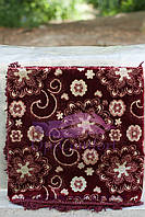 Комплект полуторный, гобелен ковровый на диван и кресла 140х200. Цветок бордо