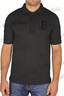 Поло тактическое полицейское чёрное из потоотводящей ткани CoolPass, фото 1