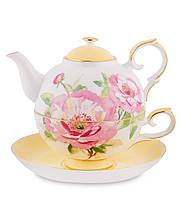 Чайный набор из костяного фарфора ''Пионы'' (Torino Peony Pavone) JK-85