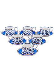 Чайный набор из костяного фарфора на 6 персон ''Элегантность'' (Eleganza Pavone) JK-91