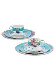 Чайный набор из костяного фарфора на 2 персоны ''Виола'' (Viola Pavone) JK-112