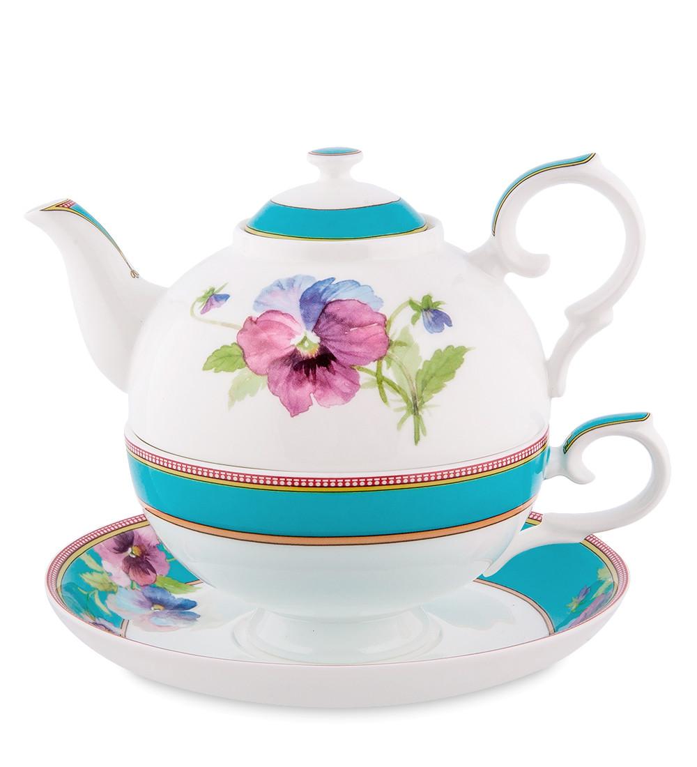 Чайный набор из костяного фарфора ''Виола'' (Viola Pavone) JK-119